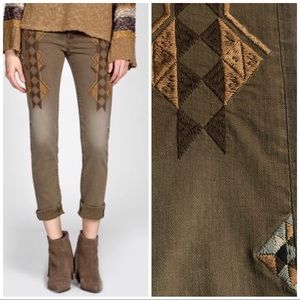 Miss Me Vintage NWT $119 brown embroidered native
